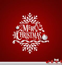 Christmas Greeting Card with Merry Christmas vector image vector image