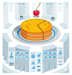 Creative infographics elements piece of pie idea vector