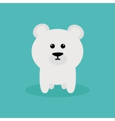 Cute Cartoon Polar Bear vector image