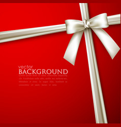 Elegant red background with white bow vector