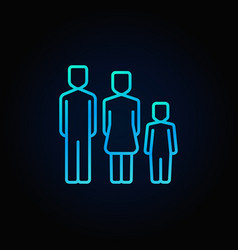 Family blue icon vector