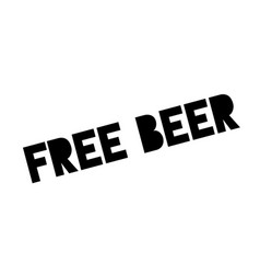 free beer rubber stamp vector image vector image