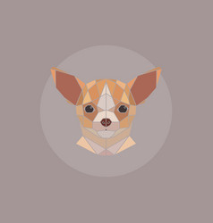 Geometric chihuahua head vector
