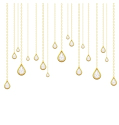 golden drops with brilliants vector image