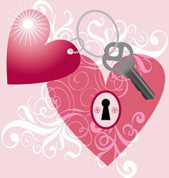 key to my heart vector image vector image