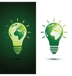 Light bulb earth vector