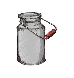 Milk can container vector