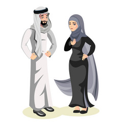 muslim arab man and a woman vector image