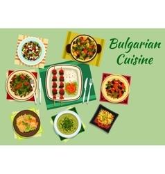 National bulgarian cuisine menu dishes vector