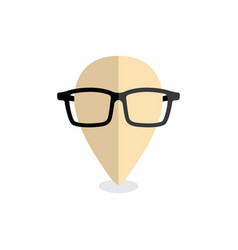 nerd geek map pin locator - location marker vector image