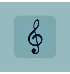 Pale blue music icon vector
