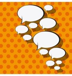 Pop art communication bubble vector