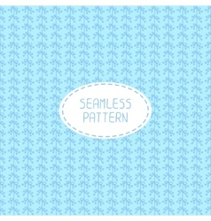 seamless pattern of hand drawn flowers Doodle vector image
