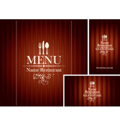 Set design restaurant vector