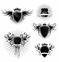 shield designs set vector image vector image