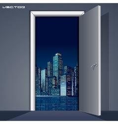 Skyline over Door vector image vector image