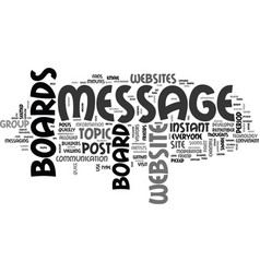 Why do some websites have message boards text vector