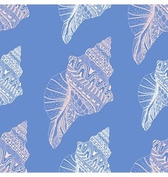 Zentangle stylized sea cockleshell seamless vector image vector image
