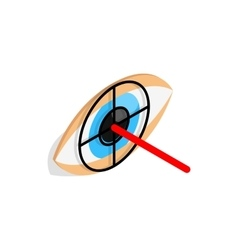 Check pupil of eye icon isometric 3d style vector