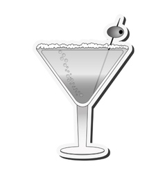 Martini cocktail icon vector
