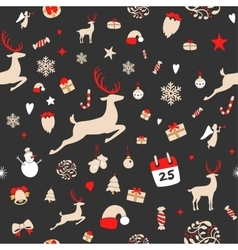 Seamless pattern design merry christmas card vector