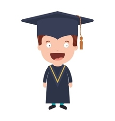 Avatar boy with graduation outfit vector