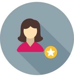 Favorite female profile vector