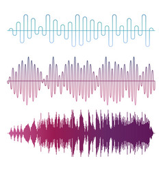 Colorful sound waves isolated on white vector
