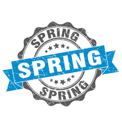 Spring stamp sign seal vector
