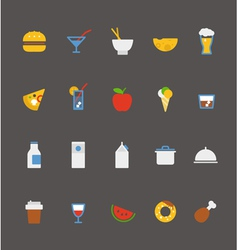 Food icons collection flat design vector