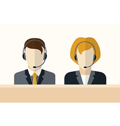Customer service operators vector