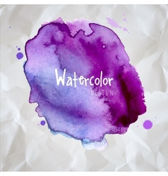 Watercolor design element vector