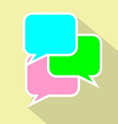 Bubble speach flat icon conversation or vector