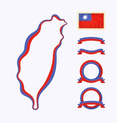 Colors of taiwan vector