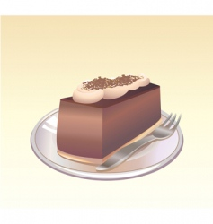 chocolate pie vector image