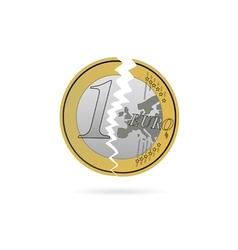 Euro crack color vector
