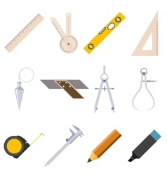 Set of measure tools icons vector