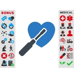 Heart tuning icon vector