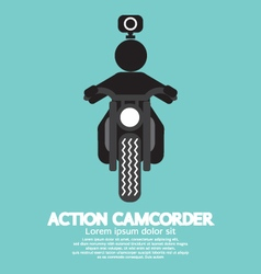 Action camcorder symbol vector