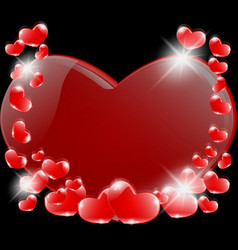 a romantic prelude of heart vector image vector image