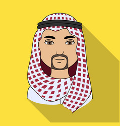 arabhuman race single icon in flat style vector image vector image