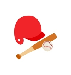 Baseball icon isometric 3d style vector image vector image