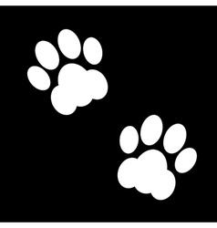 black animal footsteps vector image vector image