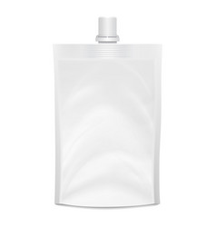 blank doypack realistic white doy-pack vector image