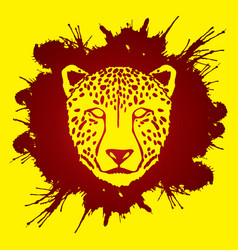 cheetah face tiger head panthera front view face vector image vector image