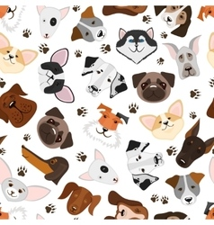 Cute puppy and dog mixed breed seamless pattern vector