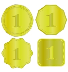 Gold Medal Icons vector image