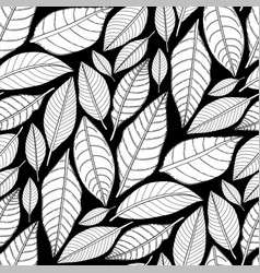 Graphic leaves pattern vector