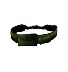 green hunter belt vector image