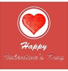 Happy valentines day romantic banner vector